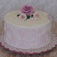 Pink Rose Embroidery my favorite, pink gumpaste rose, buttercream embroidery. love the lacy, girly look. for my best friend's birthday, we've been...