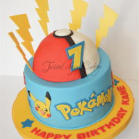 Pokemon Time! All fondant accents on this cake.