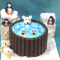 Polar Bear Hot Tub Cake Arctic themed hot tub cake. I did this cake in honor of my father who passed away a few years ago. He loved polar bears. I also added...