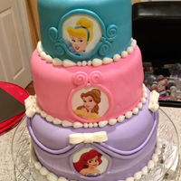 Princess Cake Three tiered princess cake