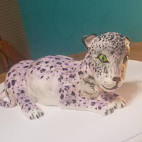 Purple Leopard This is my first 3D animal cake and first time using ganache! It looks better in person than in pictures but I think it still turned out...