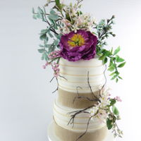 Rustic Floral Cake rustic floral cake. March issue now in stores. There is a tutorial on my sugar posy seen here. You can get your copy online or paper copies...