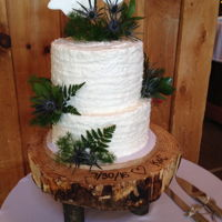 Rustic Wedding 2 tier rustic wedding cake