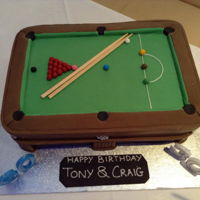 Snooker Table Joint 60Th & 30Th Birthday snooker table