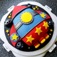 Space Rocket I did this cake to enter a cake competition at my son's school.