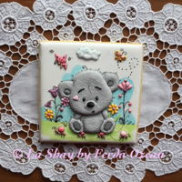 Teady Bear Royal Iced Cookie Royal iced cookie, made by using coloured royal icing!
