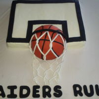 Team Cake Cake for my grandsons basketball team.