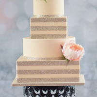 The Allison Cake 4 tier champagne colored cake