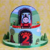 Train Cake Thomas the train cake with lots of fun details