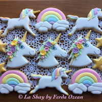Unicorn Cookies My contribution to the unicorn madness; royal iced unicorn cookies