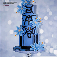 "Wedding Cake Inspired By Versace Dress. Wedding cake made for the ""Fashion Issue"" Adore of Cake Central Magazine Volume 7 Issue 4 inspired by Versace dress."