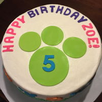 Wild Kratts Birthday White and chocolate cake with BC icing and fondant decorations.