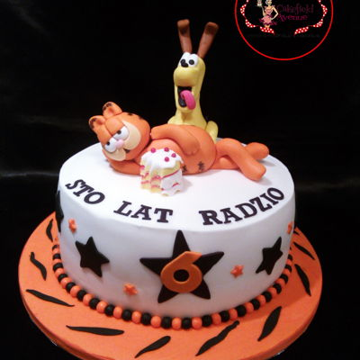 Garfield & Odie Cake Vanilla & Forrest Fruits Sponge Cake for Radzio to celebrate his 6th Birthday! Enjoy!