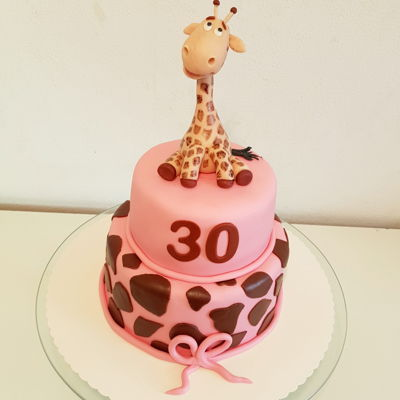 Giraffe Cake Vegan 30th birthday cake for my friend who loves giraffes.