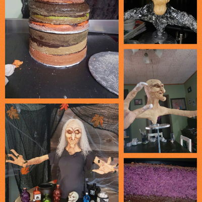 Making Of The Witch Cake
