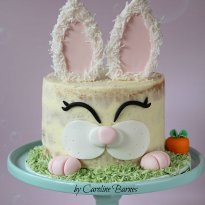 Naked Easter Bunny Cake on Cake Central