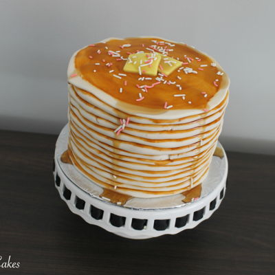 Pancake Cake + [Tutorial] on Cake Central