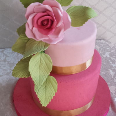 Rose Cake - Pastel De Rosa My rose cake *** Baking tips, click here: https://goo.gl/d50z76
