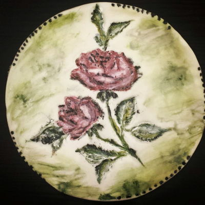 Roses - Just Classics :) Handpainted cookie with roses