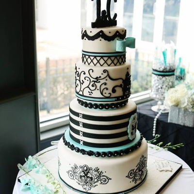 Tiffany Themed Cake