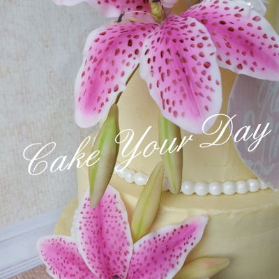 Tiger Lily Wedding Cake