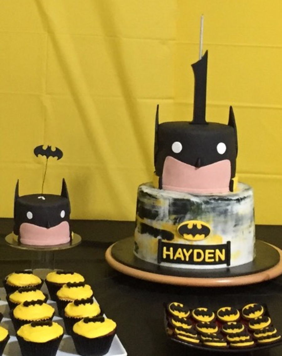 Batman. 1St Birthday Cake on Cake Central