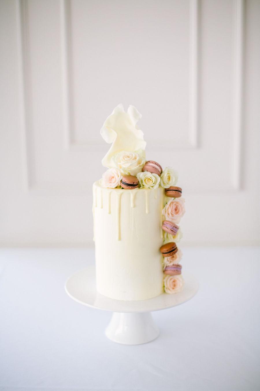 Cascading Macaron Drip Cake Cakecentral Com