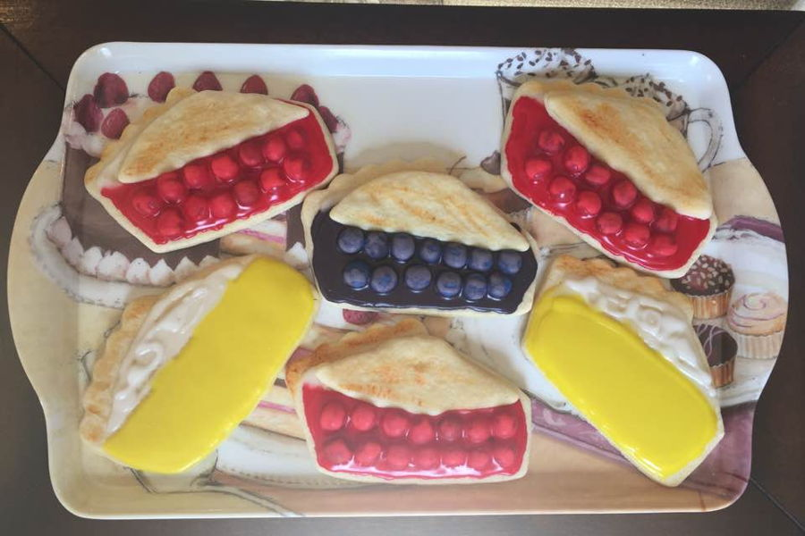 Cherry, Lemon And Blueberry Pie...sugar Cookies! on Cake Central