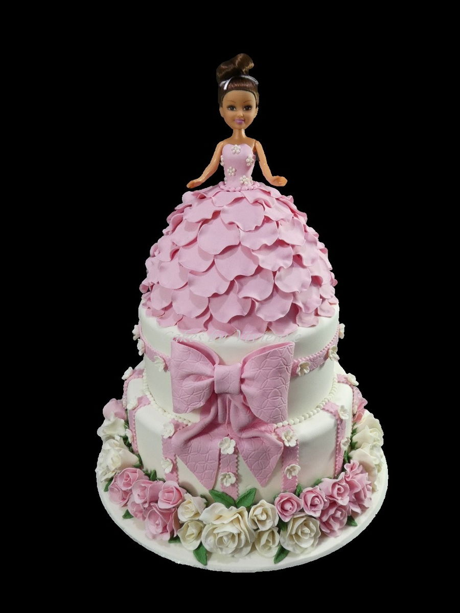 Doll And Rose 1st Birthday Cake Cakecentral