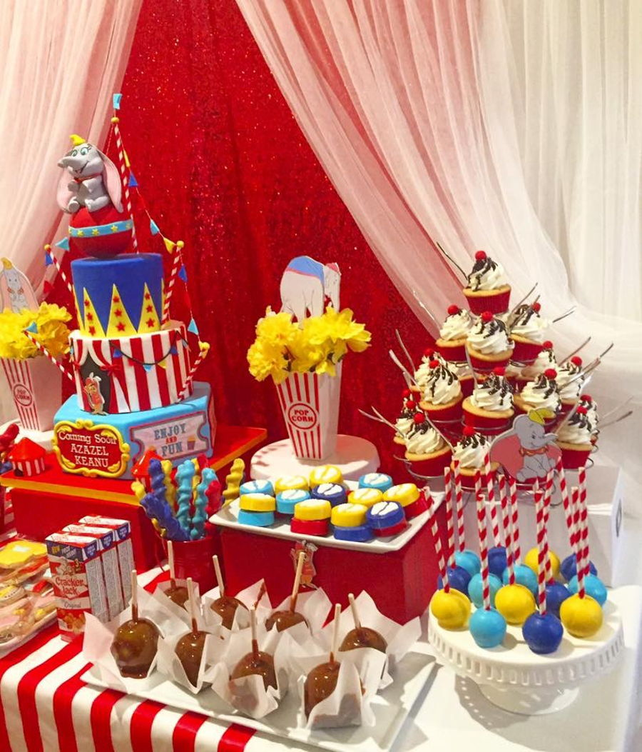 Dumbo circus baby shower for Dekoration fur babyparty