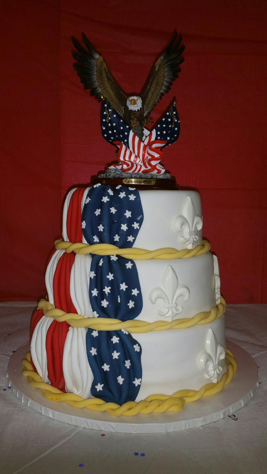 Flag Cake For Eagle Scout Award Cakecentral Com