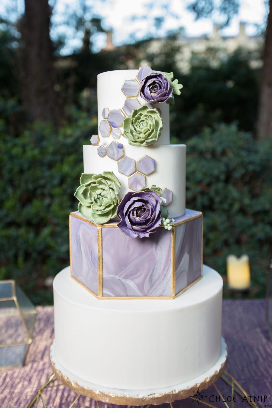 Geometric Modern Wedding Cake Cakecentral Com