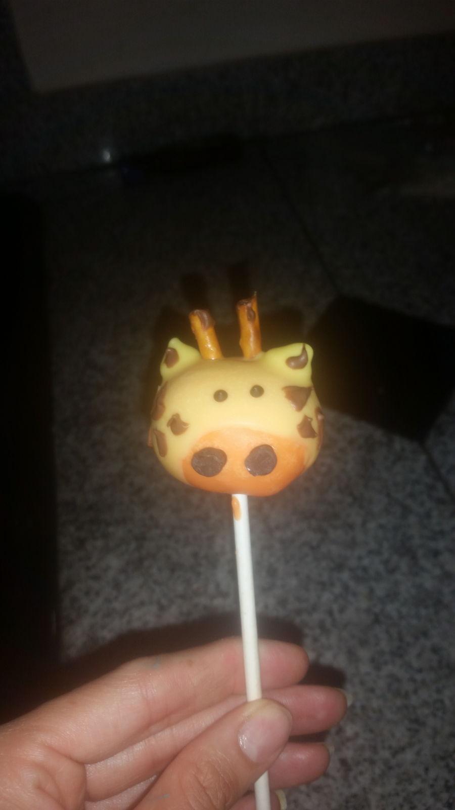 Giraffe Cake Pops Tutorial