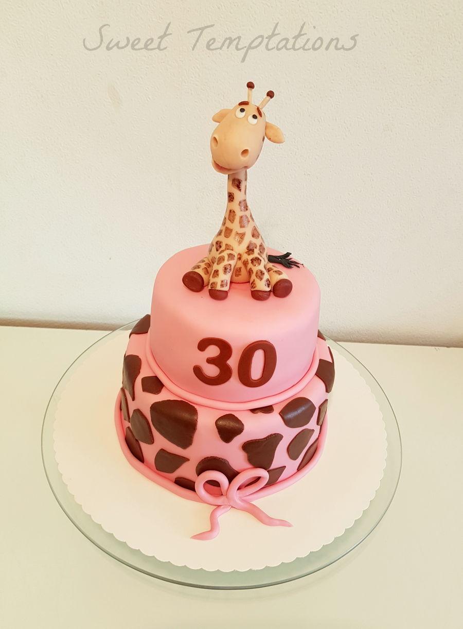 Birthday Giraffe Cake