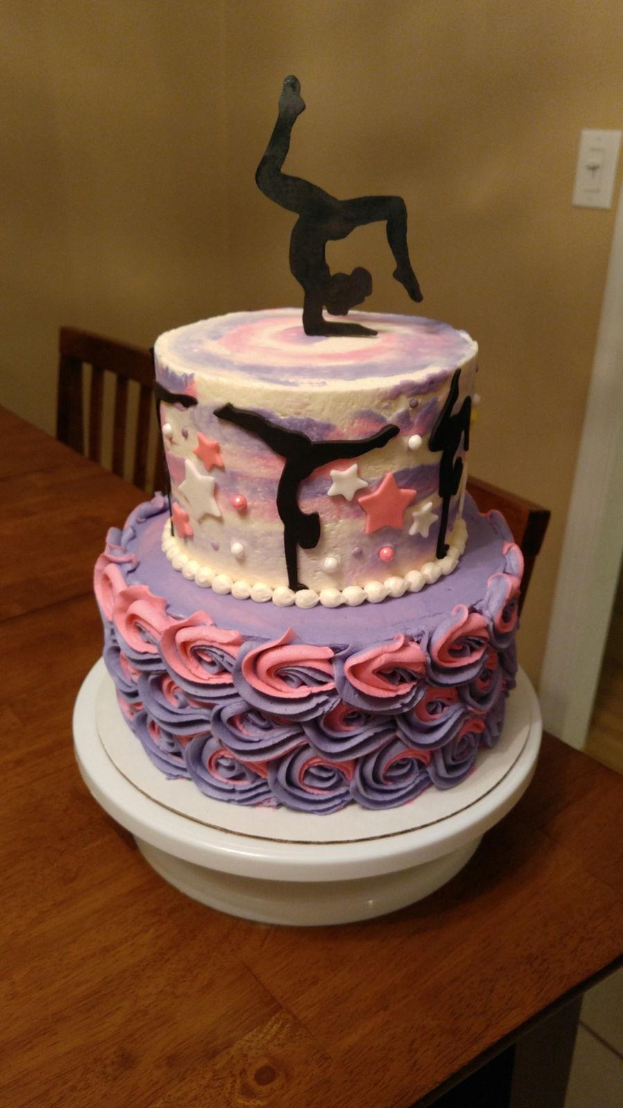 Gymnast Silhouette Cake Cakecentral Com