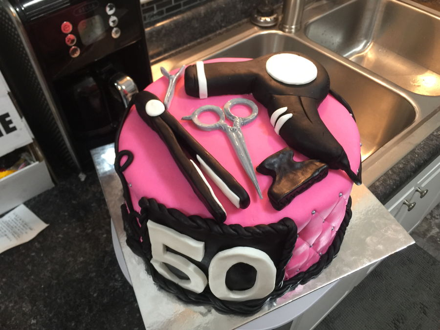 Outstanding Hairdresser Hairstylist Cake Cakecentral Com Personalised Birthday Cards Cominlily Jamesorg