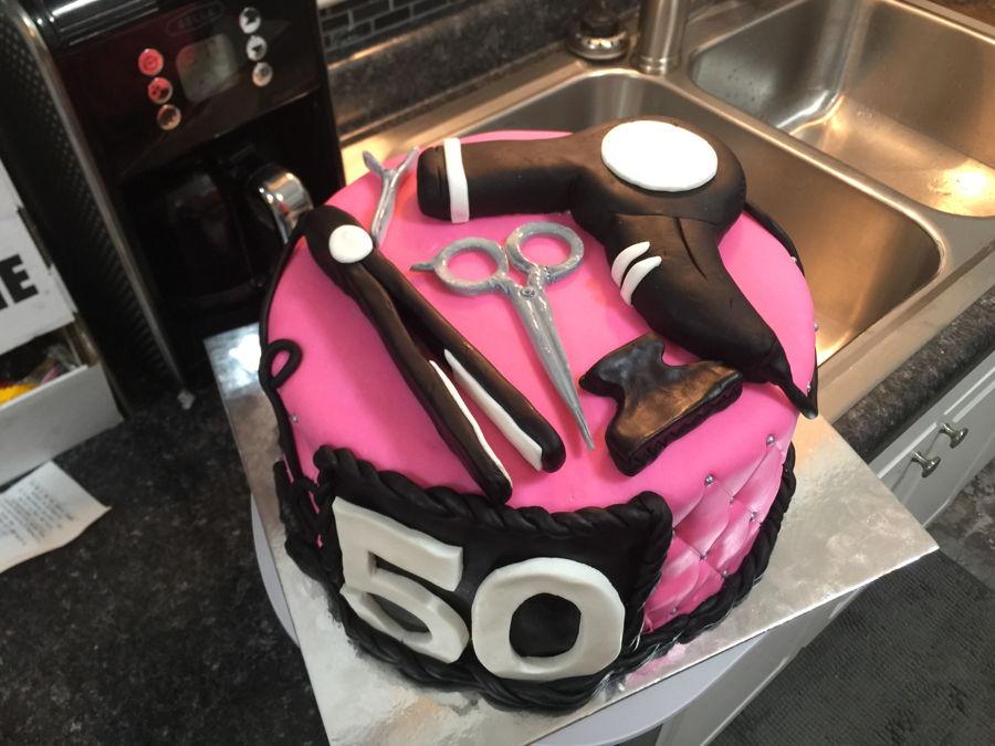 Hairdresserhairstylist Cake Cakecentral