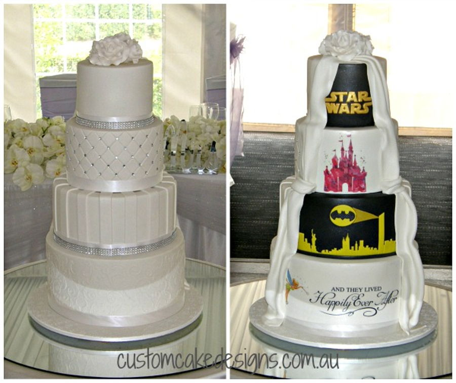 Half Tradition Half Disney And Superhero on Cake Central