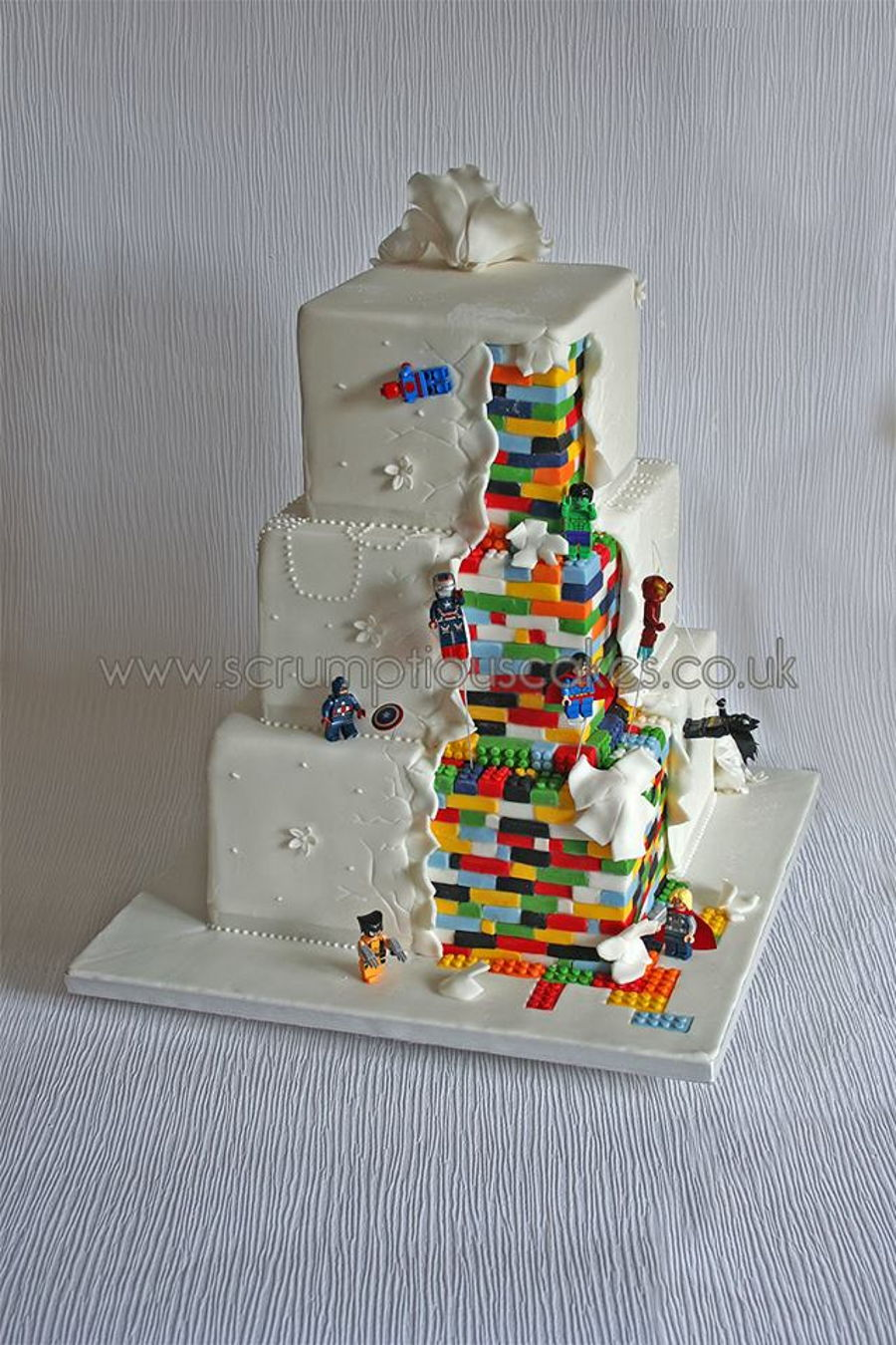 Lego Superhero Wedding Cake Cakecentral Com