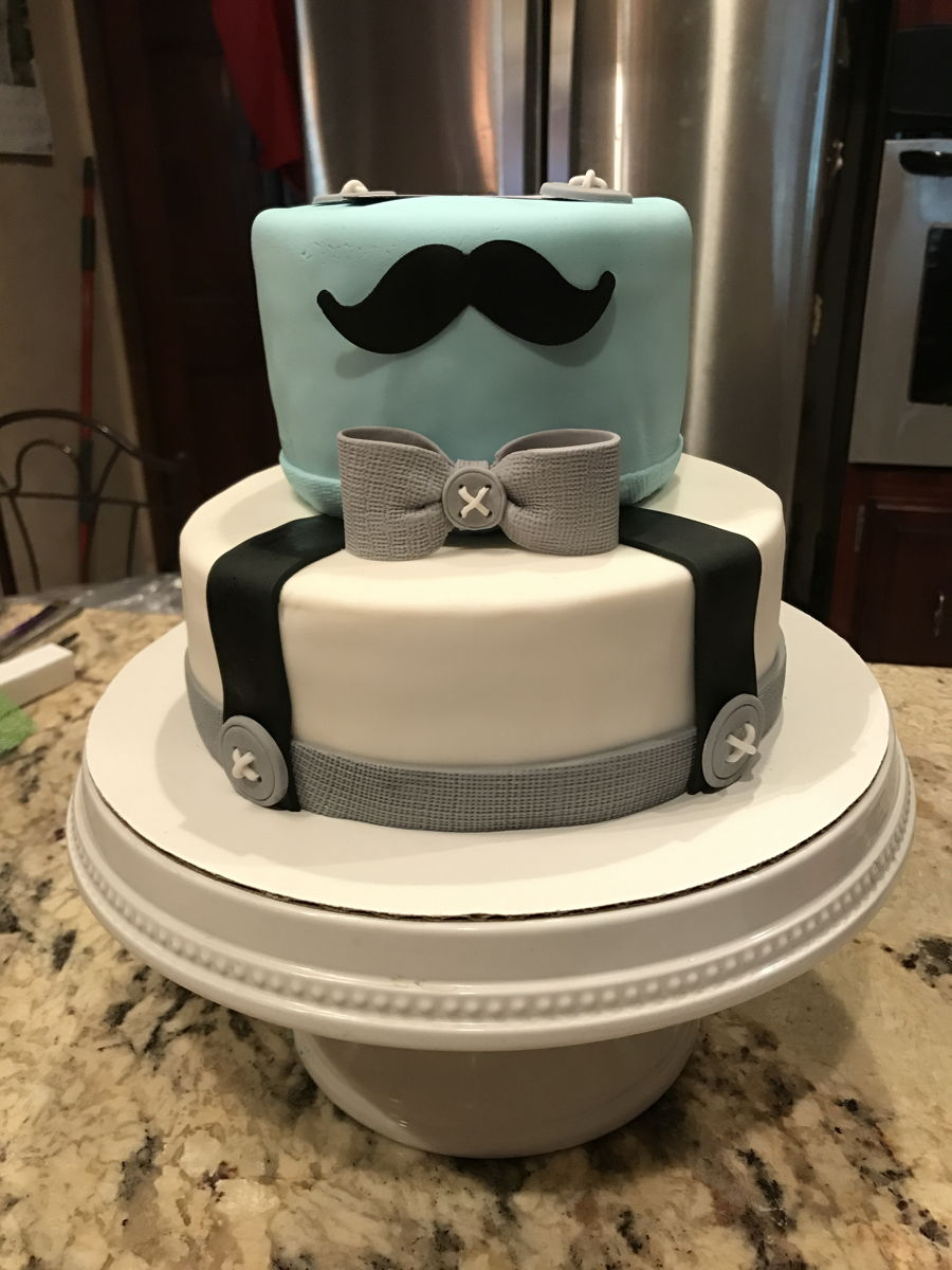Little Man Mustache Baby Shower Cake Cakecentral Com
