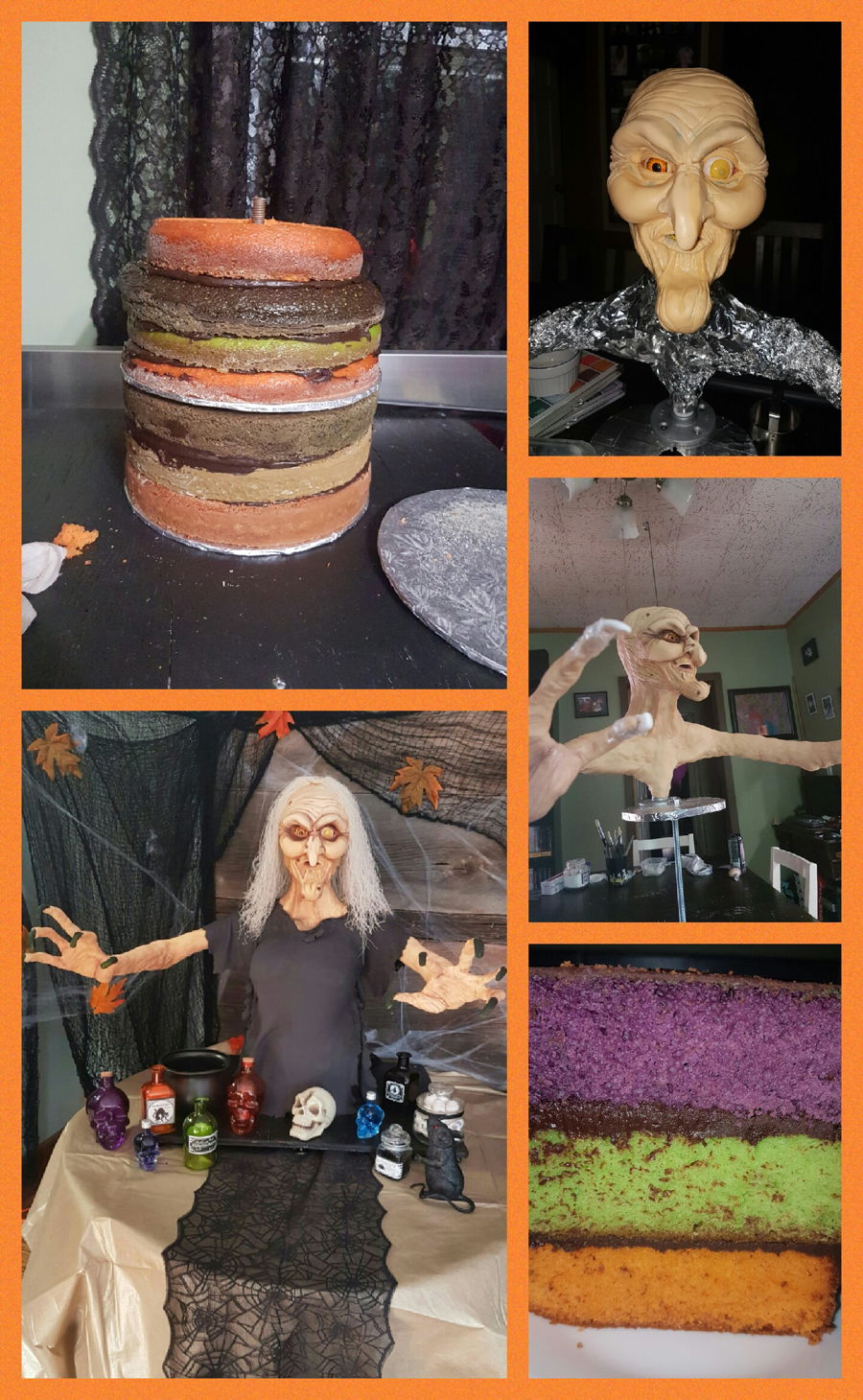 Making Of The Witch Cake on Cake Central