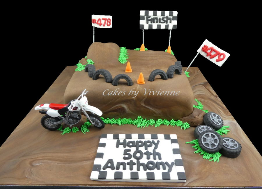 Motocross Birthday Cake Decorations