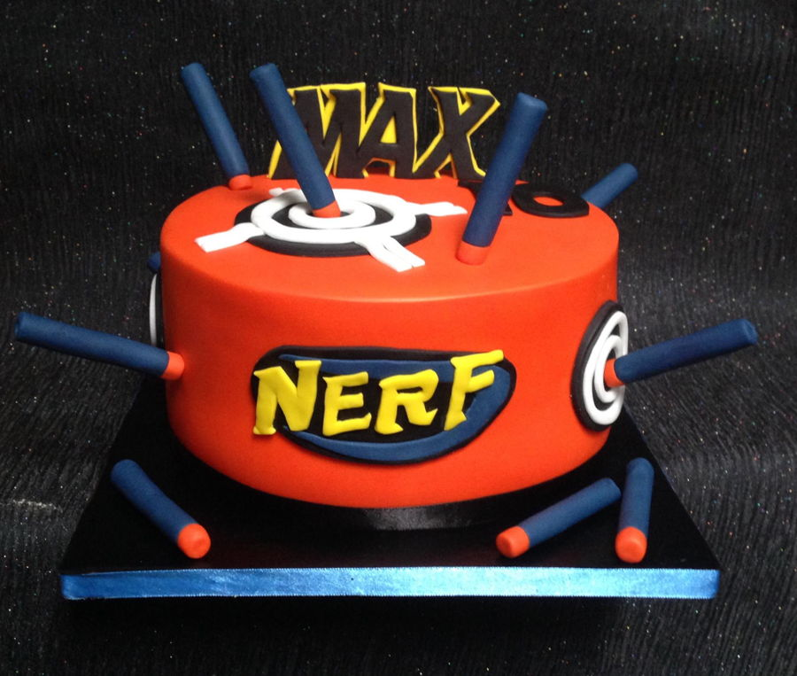 Nerf Birthday Cake Images