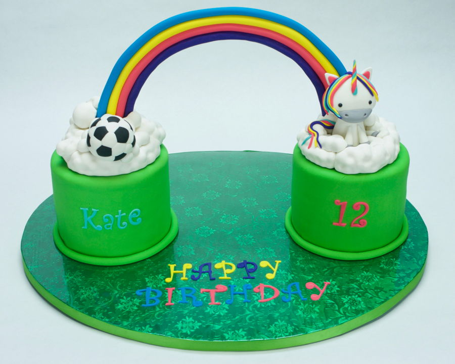 Rainbow Birthday Cake - CakeCentral.com