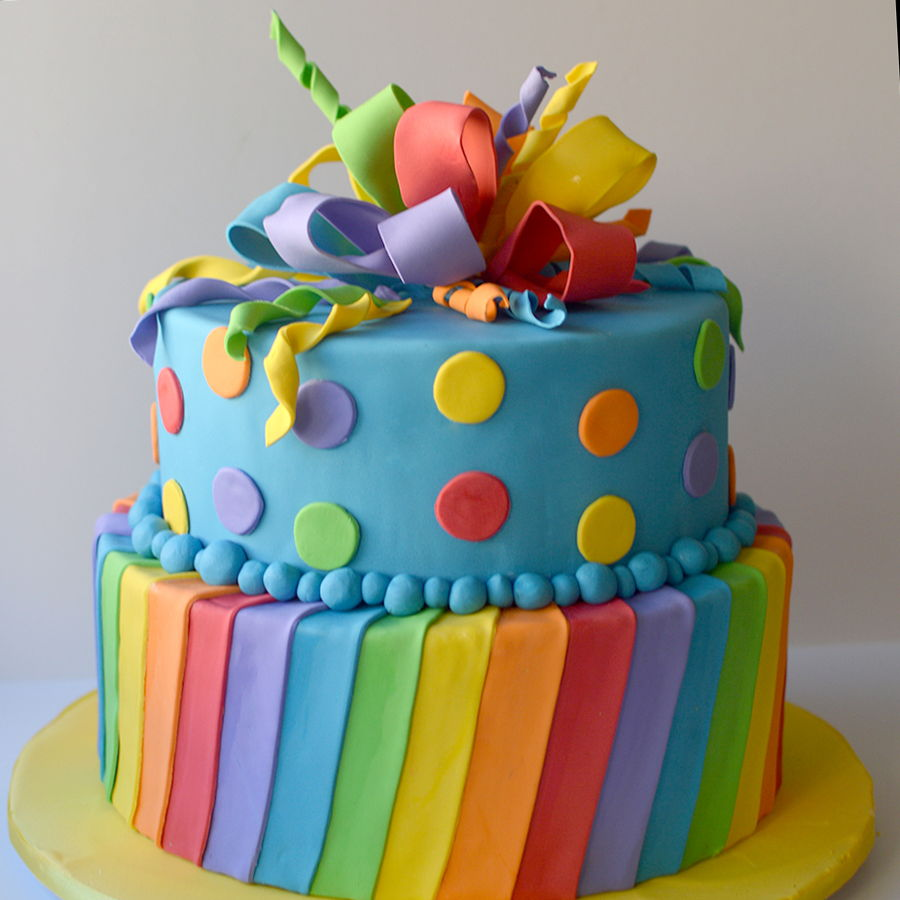 Rainbow Birthday Cake Cakecentral