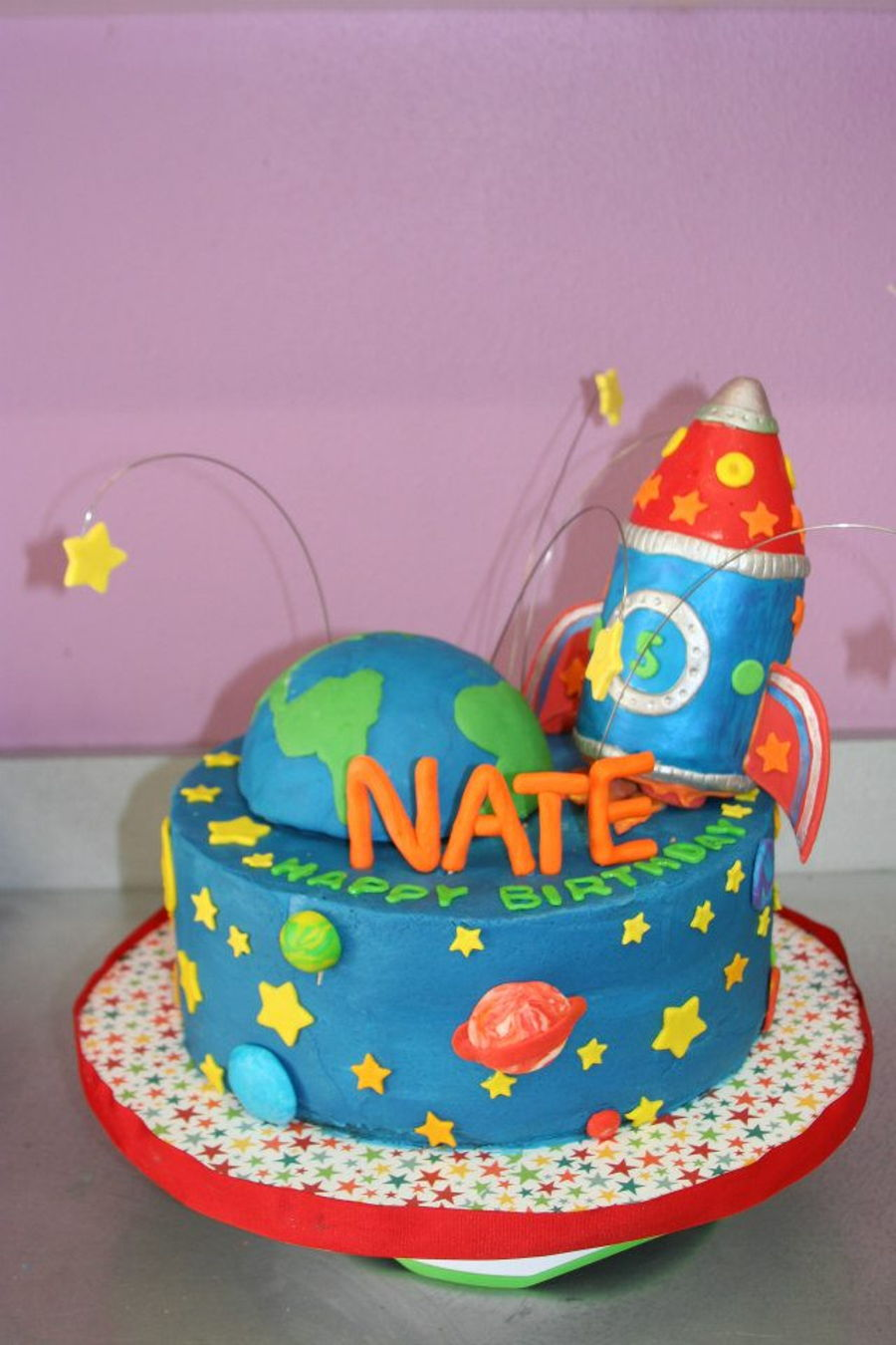 Magnificent Rocket Birthday Cake Cakecentral Com Funny Birthday Cards Online Alyptdamsfinfo