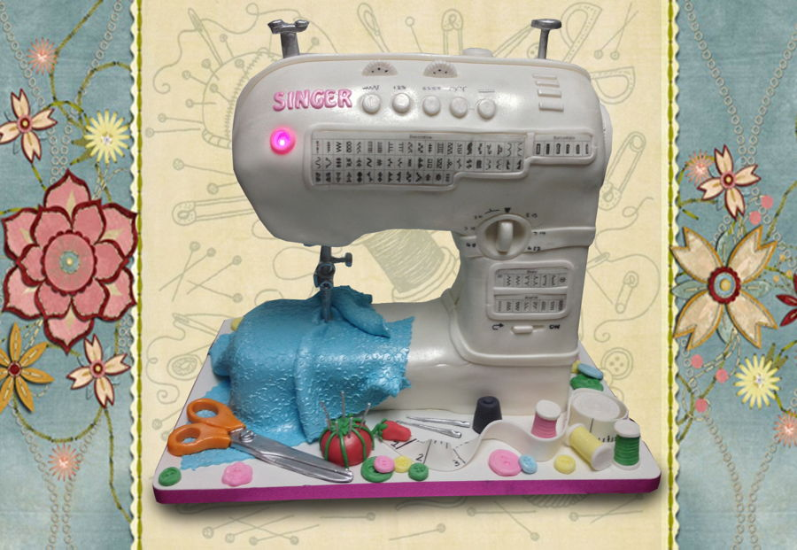 Singer Sewing Machine Cake on Cake Central