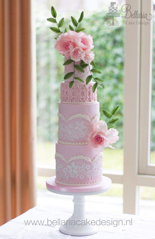 Soft Pink Wedding Cake Cakecentral Com