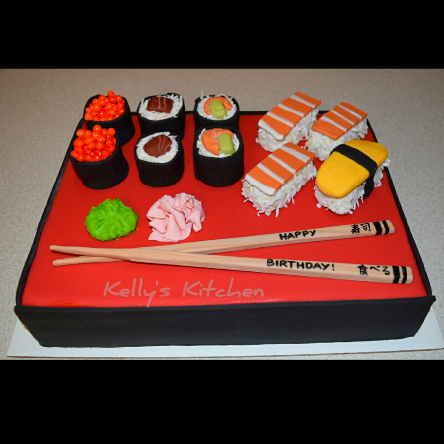 Wondrous Sushi Birthday Cake Cakecentral Com Personalised Birthday Cards Veneteletsinfo