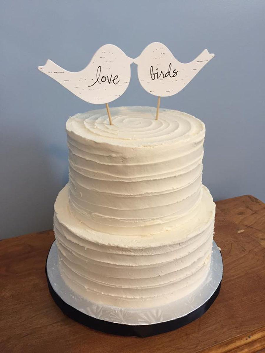 Textured Buttercream Wedding Cake Tutorial